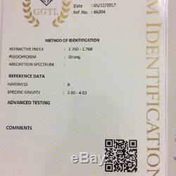 3.32 Cts Natural Blue Sapphire Certified Ceylon Vivid Cornflower Blue Sapphire