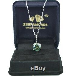 3.40 Ct Certified Round Blue Diamond Pendant-Amazing shine & Luster! AAA