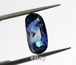 3.44 Ct Natural Blue Sapphire Kashmir Type Quality IGI & GII Certified No Heat