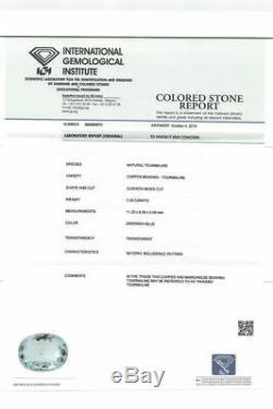 3.58 ct Natural Blue-Green Paraiba Tourmaline. IGI Antwerp certified