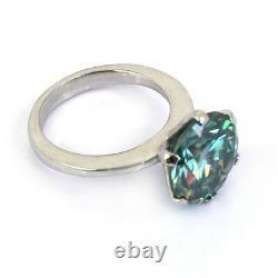 3.65 Ct Certified, Blue Diamond Solitaire Engagement Ring, Excellent Cut & Lustre