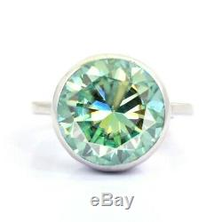 3.80 Ct Certified, Blue Diamond Solitaire Ring- Great Brilliance & Luster