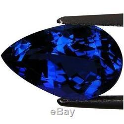 3.81 Ct IGI Certified AAA Natural D Block Tanzanite Blue Violet Pear Cut