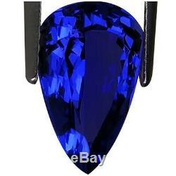 3.82 Ct IGI Certified AAA+ Natural D Block Tanzanite Blue Violet Pear Cut