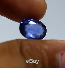 3.85 Ct IGI Certified Natural Sapphire Blue Color Oval Cut Sri-Lanka No Heat Gem