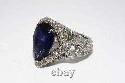 $315,000 14.94ct Agl Certified Rare Natural Ceylon Sapphire & Diamond Ring 18k