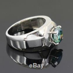 3ct Certified, Blue Diamond Solitaire Engagement Ring, Excellent Cut & Luster
