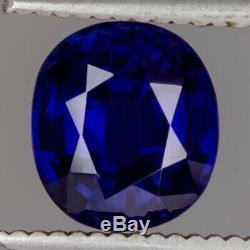 3ct GIA CERTIFIED SAPPHIRE CUSHION CUT ROYAL BLUE NATURAL LOOSE 3 CARAT OVAL