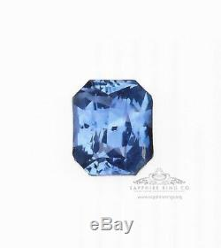 4.03 ct Untreated Blue Natural Ceylon Sapphire GIA Certified Emerald Cut
