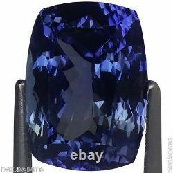 4.11 Ct IGI Certified AAA Natural Tanzanite Gemstone Cushion Green Blue Violet