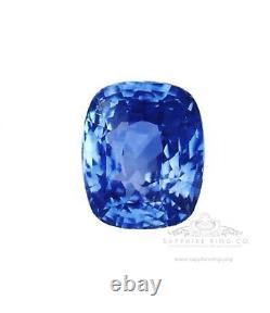 4.18 ct Untreated Blue Sapphire GIA Certified Cushion Cut Ceylon No Heat
