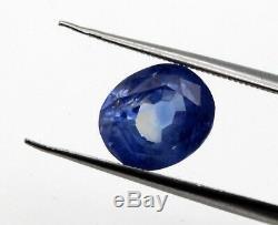 4.22 Ct IGI Certified Natural Blue Sapphire Sri Lanka No Heat Oval Cut Gem Loose