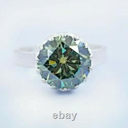 4.23 Ct Certified Natural Earth Mined Blue Diamond Ring, Great Shine & Luster