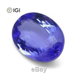 4.26 ct Oval Tanzanite IGI Certified With Laser Inscription