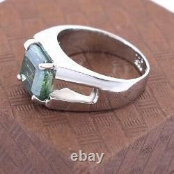 4.35 Ct Blue Diamond Men's Ring, Certified Earth Mined, Great Shine & Luster