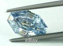 4.44 Carat Fancy Intense Blue Natural Diamond GIA Certified RARE BLUE DIAMOND