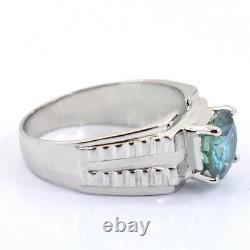 4.65 Ct Certified Natural Blue Diamond Solitaire Ring Excellent Luster