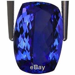 4.66 Ct IGI Certified AAA Natural D Block Tanzanite Blue Violet Cushion Cut