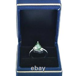 4 Ct Certified Blue Diamond Solitaire Ring Great Shine & Bling WATCH VIDEO