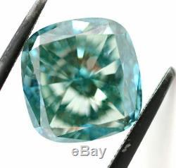 5.00 CT Loose Natural Diamond Fancy Vivid Blue VS2 Cushion Cut Certified AMAZING