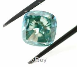 5.00 carat Fancy Vivid Blue VS2 Loose Natural Diamond Cushion Cut Certified RARE