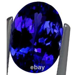 5.02 Ct GIA Certified AAAA Natural D Block Tanzanite Blue Violet Oval Cut