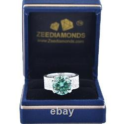 5.10 Ct Certified Gorgeous Blue Diamond Ring, Diamond Accents! WATCH VIDEO
