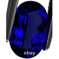 5.43 Ct GIA Certified AAAA+ Natural D Block Tanzanite Blue Violet Oval Cut