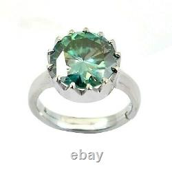 5.50 Ct Certified Blue Diamond Solitaire Ring in Prong, Excellent Cut & Luster