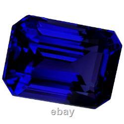 5.59 Ct GIA Certified AAAAA Natural D Block Tanzanite Blue Violet Emerald Cut