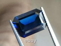 5.71 ct Natural Unheated Blue Sapphire Octagonal GIA Certified Flawless