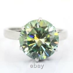 5.80Ct Certified Greenish Blue Diamond Engagement Ring, Anniversary Gift