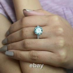 5 Ct Blue Diamond Ring With Diamonds Accents, Certified, Great Shine WATCH VIDEO