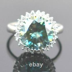 5 Ct Blue Diamond Solitaire Cocktail Ring. Certified Diamond. Amazing Collection