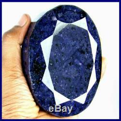 5060 Ct Certified Natural Huge Excellence Blue Sapphire Gemstone1 KG+ Saphir