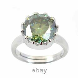 6.00 Ct Certified Earth Mined Blue Diamond Solitaire Ring Excellent Cut & Luster