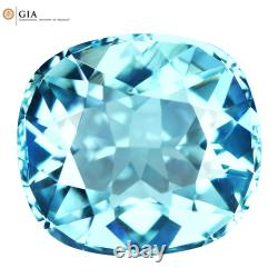 6.03Ct GIA Certified Cushion cut 12 X 11 mm 100% Natural Blue Paraiba Tourmaline
