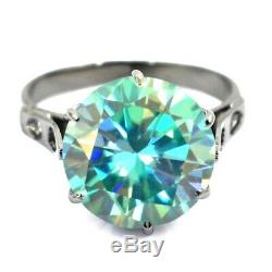 6.10 Ct AAA Certified Blue Diamond Solitaire Ring. Huge & Rare! Full of Fire