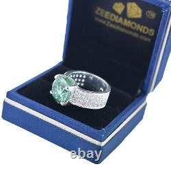 6.10 Ct Certified Blue Diamond Ring-Excellent Cut & Luster