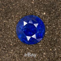 6.13ct GIA CERTIFIED CEYLON SAPPHIRE ROUND CUT ROYAL BLUE NATURAL LOOSE 6 CARAT