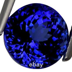 6.15 Ct GIA Certified AAAA Natural D Block Tanzanite Blue Violet Round Cut