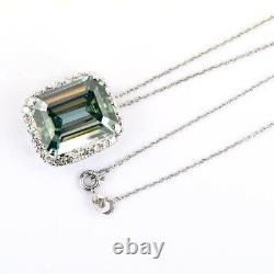 6.60Ct Certified Emerald Cut Natural Blue Diamond Pendant-Great Shine & Luster