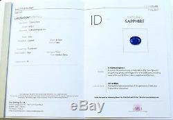 6.62 Cts Certified LGC Rare Oval Rich Ceylon Velvet Kahmir Blue Sapphire C VIDEO