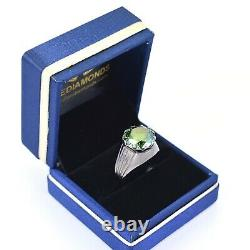 6.70 Ct Certified Natural Blue Diamond Men's Ring in Heavy Setting, WATCH VIDEO