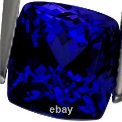 6.79 Ct GIA Certified AAAAA+ Natural D Block Tanzanite Blue Violet Cushion Cut