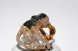 $64,750 17.89ct Gia Certified No Heat Sapphire & Diamond Custom Octopus Ring 20k