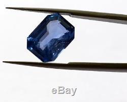 7.27 Ct GRS Certified Sri-Lanka Natural No Heat Blue Sapphire Loose Top Grade A+