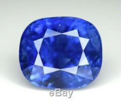 7.85Cts Natural UNTREATED CORNFLOWER BLUE Sapphire SSEF/GRS/GIA Certified