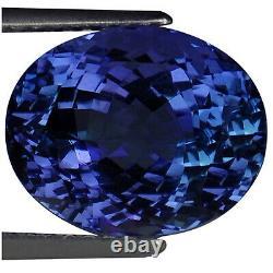 7.99 Ct IGI Certified AA Natural D Block Tanzanite Oval Cut Green Blue Violet