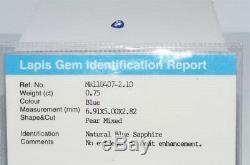 $800.75Ct Natural Lapis Gem Certified No Heat Blue Sapphire Loose Gemstone